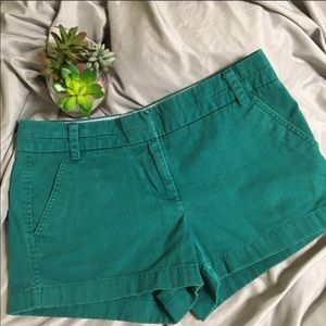 J. Crew Green Shorts Size 2